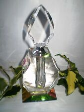 VINTAGE FRENCH ART DECO 1930'S FACETED GLASS CRYSTAL PERFUME BOTTLE