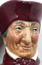 "Royal Doulton The Cardinal Miniature Toby Mug Jug 2.25"" Stamped Letter A"