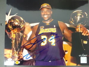 Shaquille O'Neal Lakers Signed 11x14 Photo Auto Mounted Memories 41/134