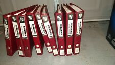 PORSCHE 928 FACTORY WORKSHOP MANUAL SET 9 VOLUMES BEAUTIFUL WIRING DIAGRAMS