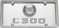MERCEDES BENZ C 300  3D  on Brushed Stainless Steel License Plate