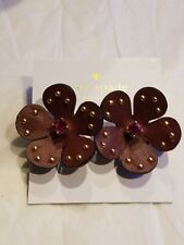 Studs (Russet Multi) Earring Nwt $58 Kate Spade New York Blooming Bling Leather