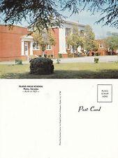 1976 THE HIGH SCHOOL PLAINS GEORGIA  UNITED STATES UNUSED COLOUR POSTCARD