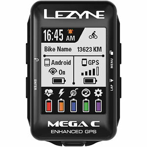 Lezyne GPS Mega C GPS Cycle Cycling Bike Riding Computer Bluetooth