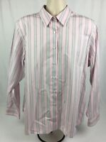 Orvis Wrinkle Free 100% Cotton Button Front Long Sleeve Dress Shirt Size 20 or L