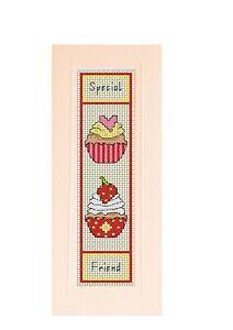 "Count cross stitch bookmark ""Special Friend"",  Cream bookmark included"