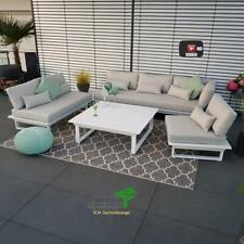 ICM Gartenlounge St.Tropez Aluminium weiß Alu Gartenmöbel Lounge Sitz Gruppe
