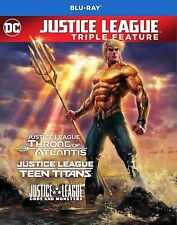 Justice League vs.Teen Titans/Gods and Monsters/Throne of Atlantis[Blu-ray,2017]