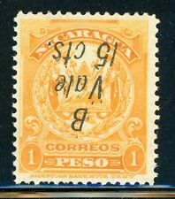 Nicaragua MH Bluefields Specialized: MAXWELL #LB155af 15c/1P DOUBLE INVERTED $$$