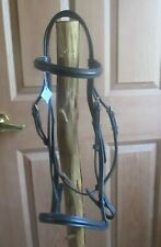 Dark brown leather english bridle headstall