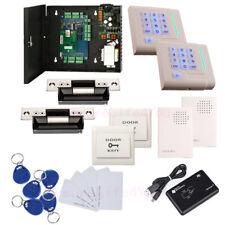 2 Door Complete TCP/IP Network Access Control Kit ANSI Strike Lock Keypad Reader
