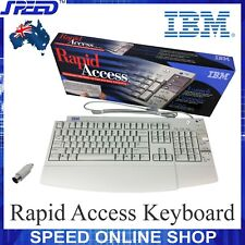 IBM KB-7993 Rapid Access PS2 Keyboard 00K8649 / 12J5557 / 12J5558 (+ AT Adapter)