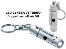 2x LED LENSER Zweibrüder V8 Turbo 7660 Taschenlampe NEU