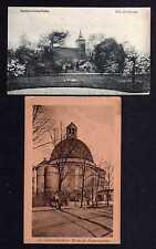 106595 2 AK Berlin Lichterfelde Alte Dorfkirche u 1910 Kirche am Friedrichsplatz