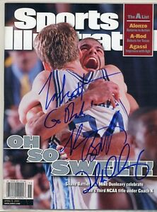 SHANE BATTIER MIKE DUNLEAVY JRNO LABEL SPORTS ILLUSTRATED signed autographed