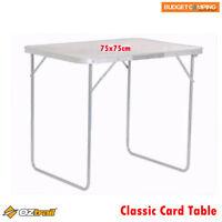 Oztrail Classic Folding Card Table 75x75cm
