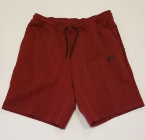 NIKE SPORTSWEAR TECH FLEECE RUNNING SHORTS MAROON CU4503-677 MENS SIZE LARGE NEW