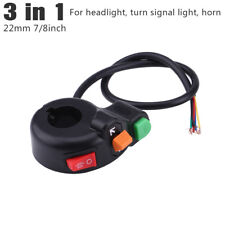 7/8'' 22mm Motorcycle Handlebar Headlight Turn Signal Light Switch Horn Button