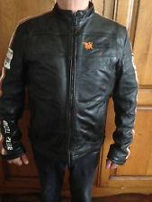 BLOUSON DE CUIR RG512 HOMME TAILLE L STYLE MOTO ( OCCASION )