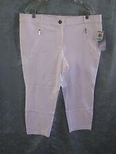Alfani White Ankle Pants Size 16 NWT Comfort Waist