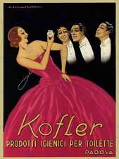 Commercial Pubblicità Kofler WC Igiene PADOVA ITALIA Poster Art Print bb1854b