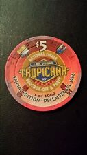 $5 Tropicana Casino chip ~'96 National Finals BBQ Cook Off & Party ~ LAS VEGAS