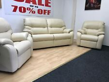 G PLAN MISTRAL LEATHER 3 SEATER SOFA & 2 POWER RECLINING CHAIRS (RRP£6407!!)