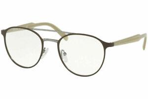 Authentic Prada PR60TV LAH1O1 51 Eyeglasses Matte Brown  51mm Optical Frame