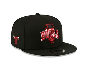 Chicago Bulls New Era Local Icon State 9FIFTY Adjustable Snapback Hat