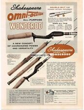1961 Shakespeare Omni-Action Wonderod Fisihing Rod Vtg Print Ad