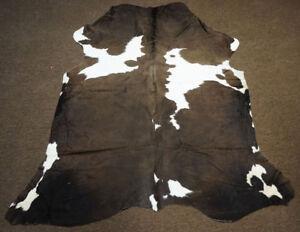 Dark  Rodeo Cowhide rug area rug 7.11x6.8ft- 2551