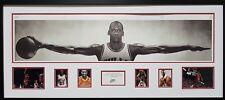 NBA - Michael Jordan - WINGS - Large Framed Photographic Print - READY TO HANG