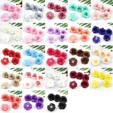 12/120Pc Artificial Rose Silk Flower Head DIY Bulk Fake flower Wedding DIY Decor