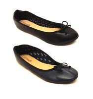 WOMENS LADIES FLAT BALLET PUMPS SLIP ON WORK FORMAL CASUAL DOLLY SHOES SIZE UK