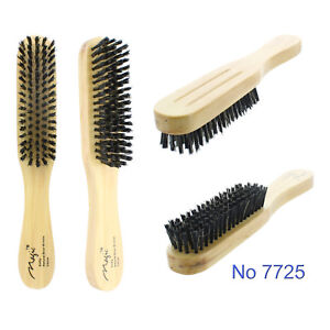 Reinforced Soft Boar Bristle Narrow Brush Real Wood Handle Wave Magic No 7725