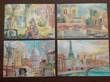 "Vatican City 1989 Set of 4 Mint Postcards ""City of Paris"""