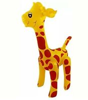 Large 59cm INFLATABLE GIRAFFE Zoo Animal Blow Up Inflate Party Toy Novelty