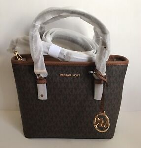 NWT!! Michael Kors Jet Set Travel Extra-Small Logo Top-Zip Tote Bag In 5 Colors