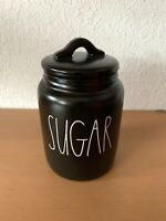 Rae Dunn SUGAR Baby Small Black Canister LL Artisan Collection By Magenta
