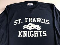 St Francis Swimming Long Sleeve Shirt Mens XL/2XL Dri-Fit Student Alumni School