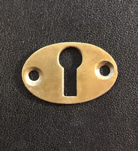 One Small Vintage BRASS DRAWER CABINET KEYHOLE ESCUTCHEON 1920's 1930's