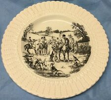 Fox Hunt Hunting Royal Cauldon Plate Black and White The Meet 2