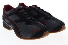 Puma Tazon 6 Heather Rip 19112101 Mens Black Canvas Athletic Running Shoes 7