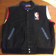 JEFF HAMILTON NBA Basketball Logo Jerry West LOGOMAN LEATHER JACKET Size XXL