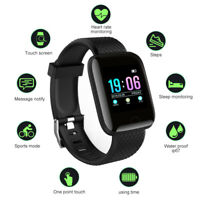 Smart Watch Heart Rate Blood Fitness Tracker Bracelet For Android IOS Waterproof