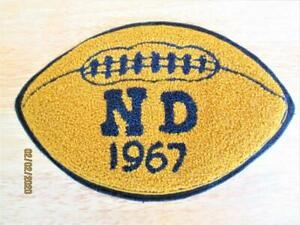 AUTHENTIC VINTAGE 1967 NOTRE DAME FOOTBALL SPORT SCHOOL SEW ON PATCH