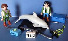 (M85) playmobil  soigneurs dauphin zoo