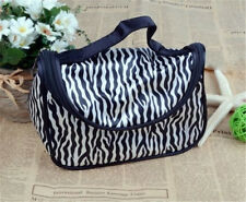 Lady Cosmetic Nail Art Tool Bag Make Up Case Bags Toiletry Holder Storage Zebra