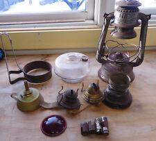 Vintage Lot of Oil Lamp Parts- Feuerhand Kerosene Lamp-Burners- Plus More !!
