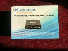 VGA and audio to HDMI with audio converter